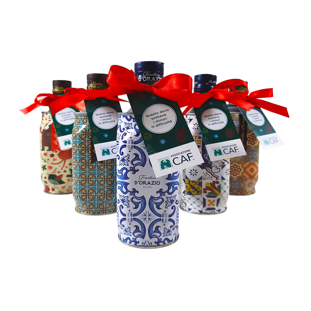 Olio Pugliese- regali solidali di Natale- associazione CAF
